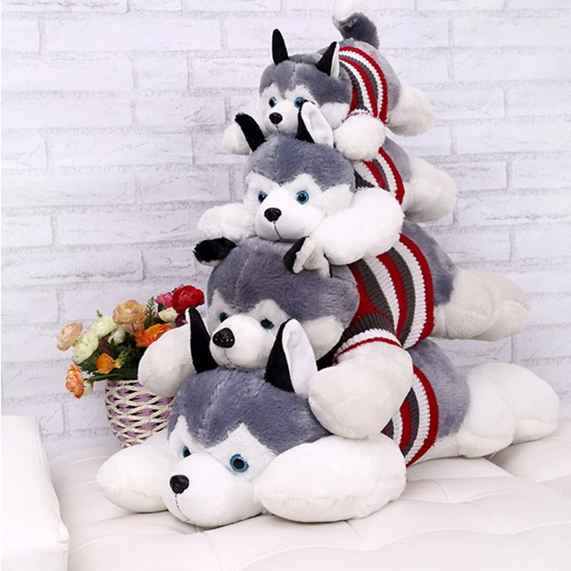 Huskydaddy 40cm Siberian Husky Plush Toy Huskyfanworld