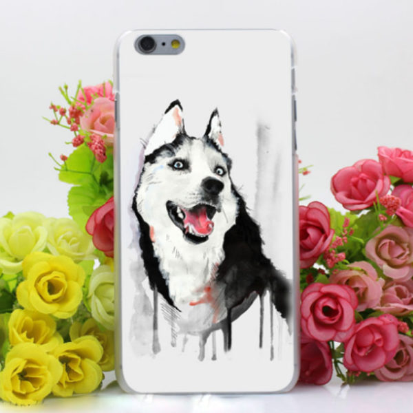 Husky-Watercolor-PhoneCase