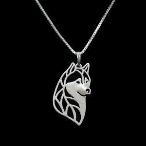 Huskayfanworld cute husky necklace