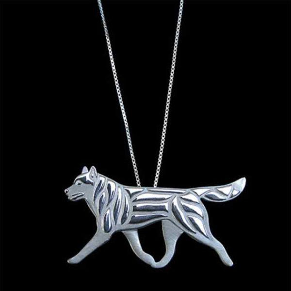 huskyfanworld running husky necklace