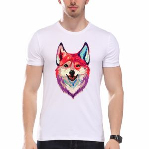 nice husky tshirt