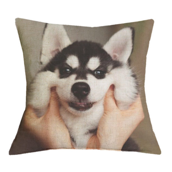 love my husky pillow